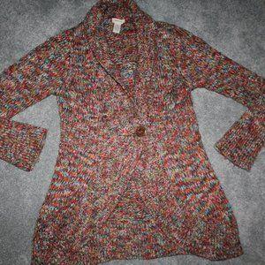 Sleeping on Snow Size L Wool Rainbow Cardigan